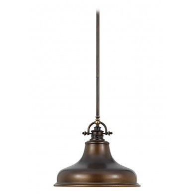 Palladian Bronze 100W E27 343mm Diameter Single Pendant