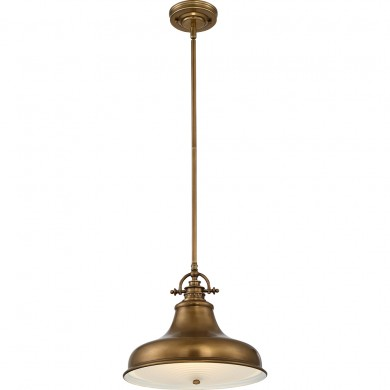 1 Light Pendant Weathered Brass