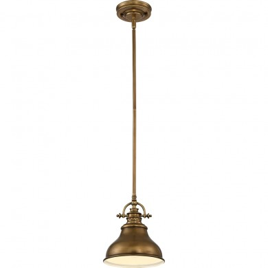 1 Light Mini Pendant Weathered Brass
