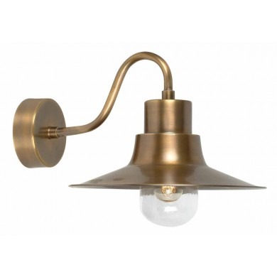 Brass 100W E27 IP43 Porch Light