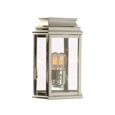 Nickel With Clear Glass 100W E27 IP44 Porch Light