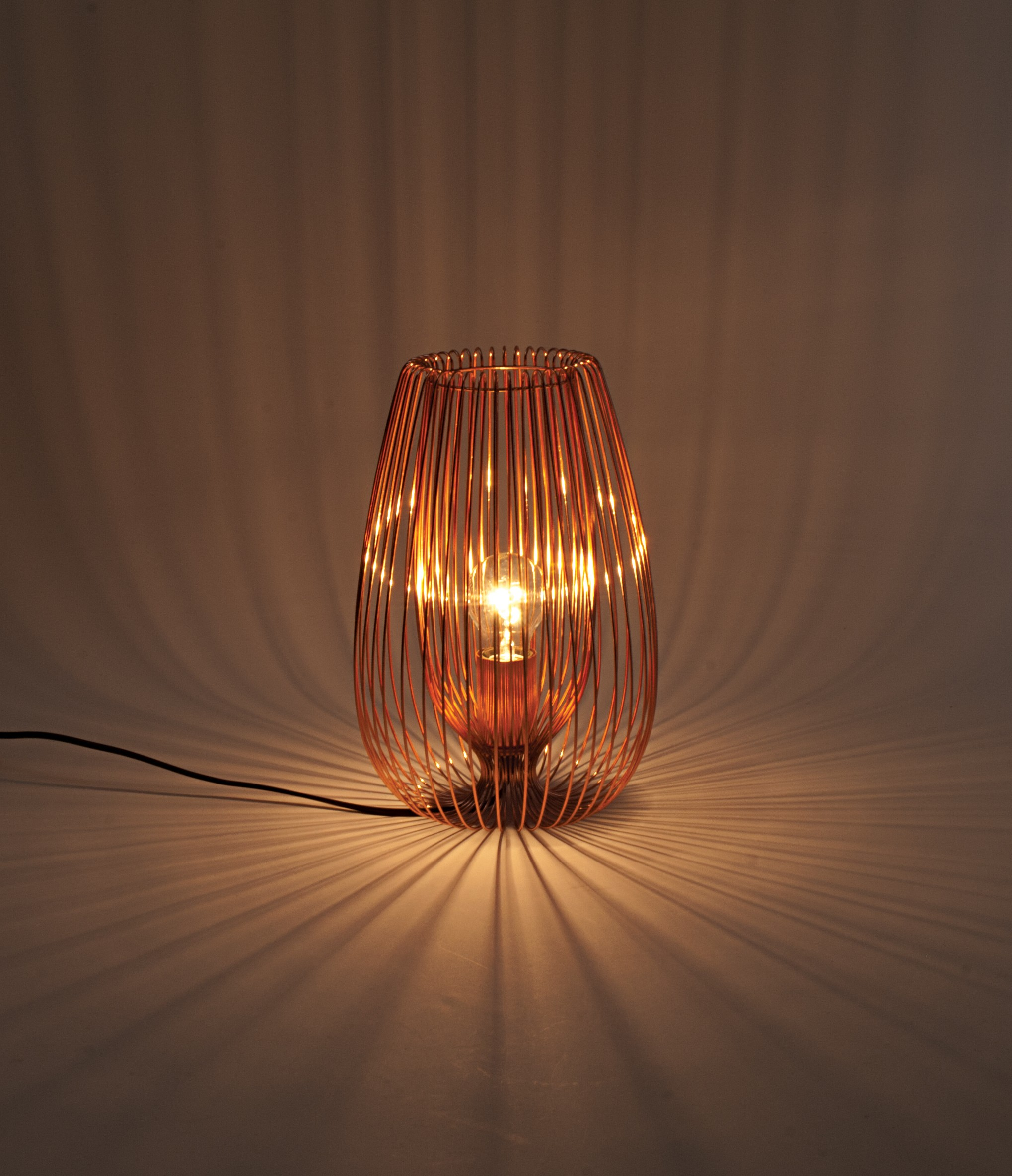 Copper Wire 60w E27 Table Lamp