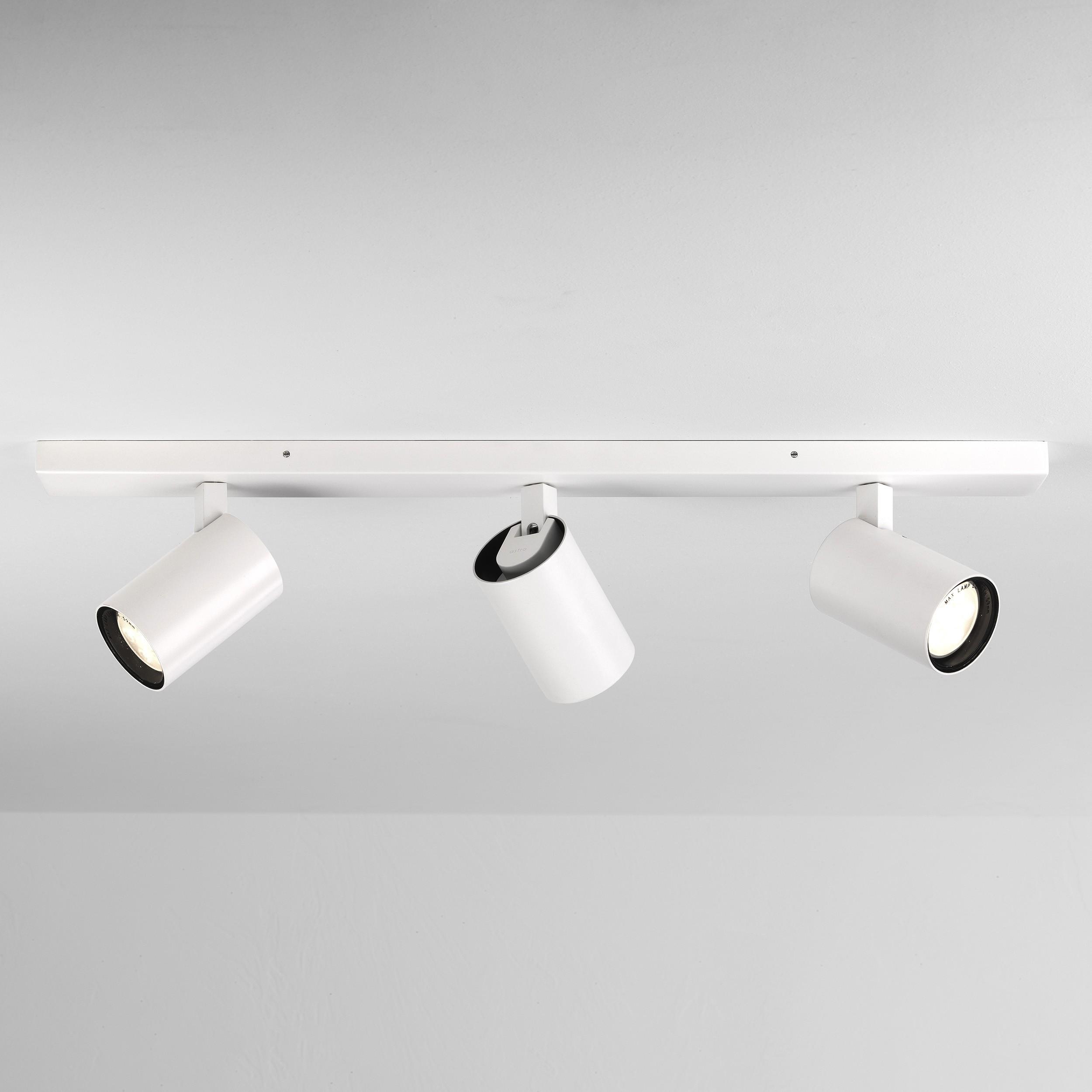 new arrival 50ea9 0dab5 Astro Lighting - Aqua Triple Bar 1393003 (6154) - IP44 Matt White Spotlight