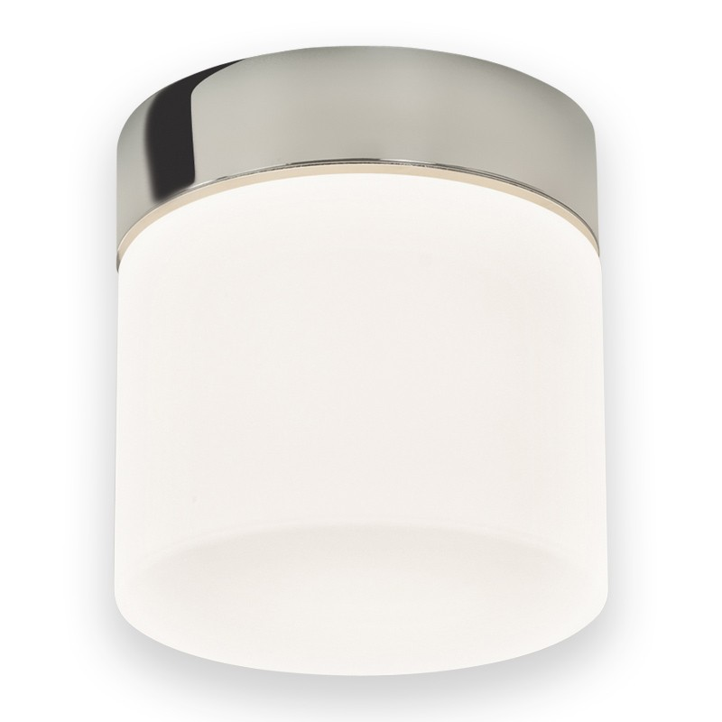 Chrome with white glass 60w e27 ip44 double insulated bathroom chrome with white glass 60w e27 ip44 double insulated bathroom ceiling light aloadofball Image collections