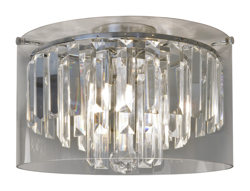 Chrome with crystal droplets 33w g9 ip44 double insulated bathroom 3 chrome with crystal droplets 33w g9 ip44 double insulated bathroom 3 light flush aloadofball Gallery