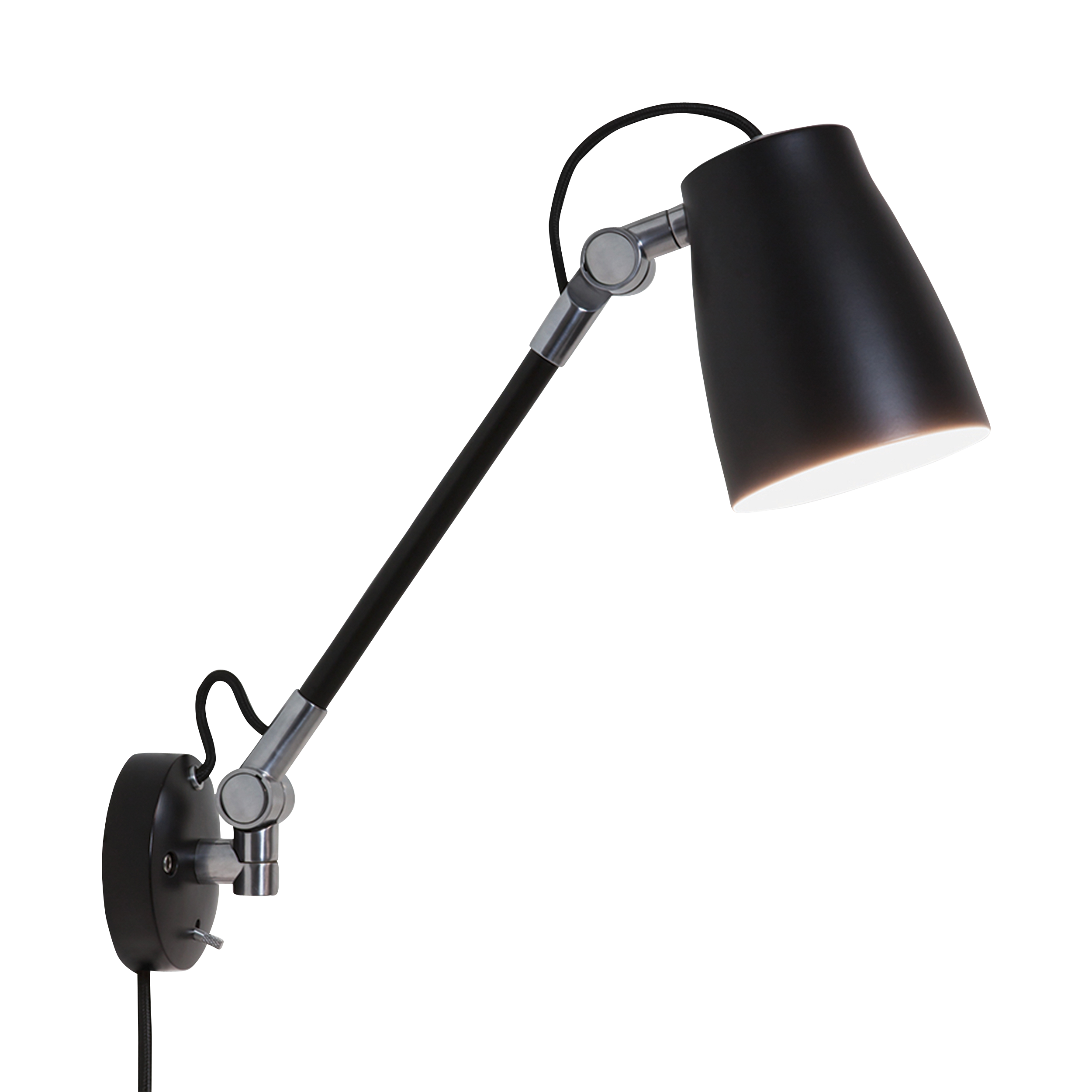 Black 28w e27 wall mounted task lamp aloadofball Choice Image