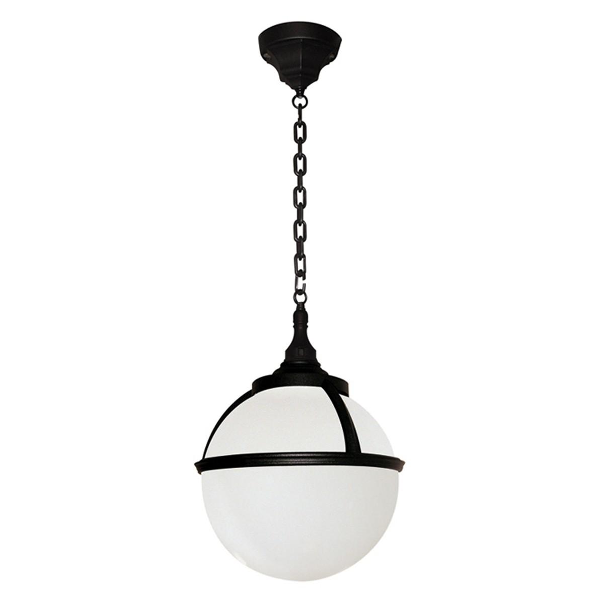 Black 100W E27 IP44 Globe Pendant