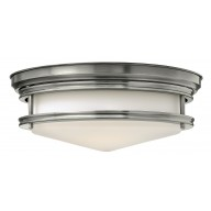 Antique Nickel 100W E27 Flush Light