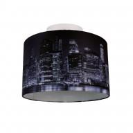 Digitally Printed Shade with New York City Skyline 320mm Diameter Flush