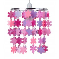 Pink and Purple Flower Easy Fit Light Shade