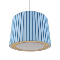 Duck Egg 350mm Pleated Non Electric Shade With Ivory Diffuser