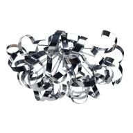 Chrome Swirl Ribbon Dome Ceiling Fitting