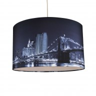 Digitally Printed Shade with New York City Skyline 400mm Diameter