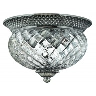 Polished Antique Nickel 60w E27 Dimmable 305mm Diameter Flush