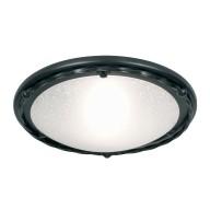 Black 100W E27 Flush