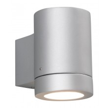 Silver Painted 11W GU10 IP44 Garden Wall Light