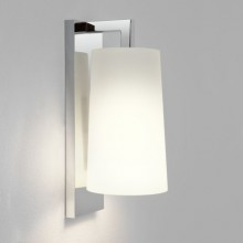 Astro Lighting - Lago 280 1297001 (7058) & 1297001 (4076) - IP44 Polished Chrome Wall Light With White Shade Included