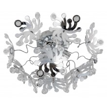 Chrome Semi Flush 3 x G9 Flower Fitting