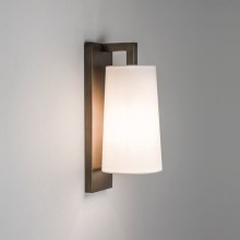 Astro Lighting - Lago 280 1297007 (8234) & 1297007 (4079) - IP44 Bronze Wall Light With White Glass Shade Included
