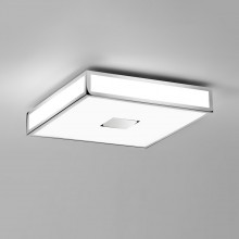 Astro Lighting - Mashiko 400 Square LED Emergency Selftest 1121072 (8611) - IP44 Polished Chrome Ceiling Light