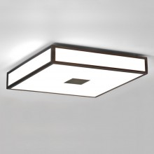 Astro Lighting - Mashiko 400 Square LED Emergency Selftest 1121074 (8613) - IP44 Bronze Ceiling Light