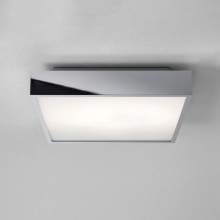 Astro Lighting - Taketa 400 Square LED Emergency Selftest 1169016 - IP44 Polished Chrome Ceiling Light