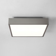 Astro Lighting - Taketa 400 Square LED Emergency Selftest 1169017 - IP44 Matt Nickel Ceiling Light