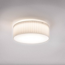 Astro Lighting - Cambria 380 1421003 - Flush Ceiling Light with White Pleated Fabric Shade Included