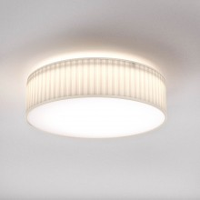 Astro Lighting - Cambria 480 1421006 - Flush Ceiling Light with White Pleated Fabric Shade Included