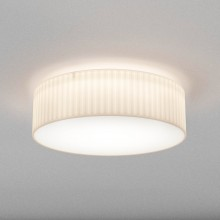 Astro Lighting - Cambria 580 1421009 - Flush Ceiling Light with White Pleated Fabric Shade Included