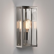 Polished Nickel 60w E27 IP44 Decorative Wall Light