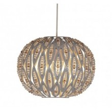 Taupe Metal Leaf Design Easy Fit Ceiling Shade