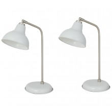 Pair of Grey Task Table Lamps