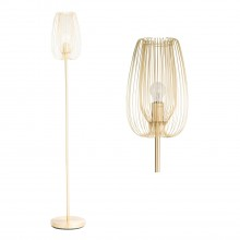 Brushed Gold Metal Wire Floor Lamp