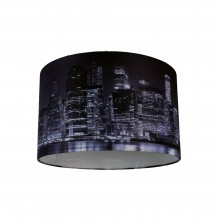Digitally Printed Shade with New York City Skyline 320mm Diameter