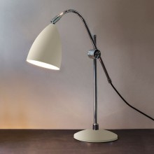 Cream & Polished Chrome Adjustable Task Lamp With In-Line Switch