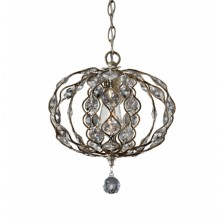 Burnished Silver E27 100W Dimmable 320mm Diameter Pendant