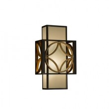 Heritage Bronze/Parisienne Gold E27 60W Dimmable Wall Light