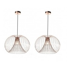 Modern Copper Wire Ceiling Light