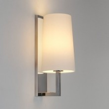 Astro Lighting - Riva 350 1214001 (0988) & 1214001 (4080) - IP44 Polished Chrome Wall Light With White Shade Included