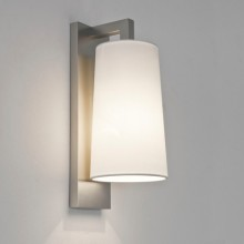Astro Lighting - Lago 280 1297002 (7059) & 5018001 (4076) - IP44 Matt Nickel Wall Light with White Shade Included