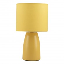 Clive - Ochre Ceramic 25cm Table Lamp / Bedside Light with Matching Shade