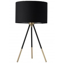 Trim - 51cm Black and Satin Brass Tripod Table Lamp