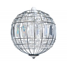 Polished Chrome and Clear Crystal Globe Easy Fit Pendant Shade