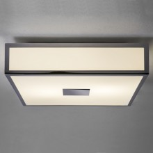 White 60W E27 IP44 Bathroom Flush With Chrome Metalwork