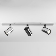Polished Chrome Adjustable Bathroom Triple Spotlight Bar
