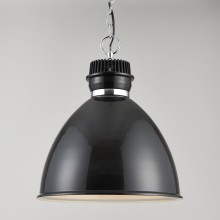 Gloss Black Industrial Style Ceiling Light Pendant