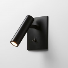 Astro Lighting - Enna Square Switched LED 1058024 (7496) - Matt Black Reading Light