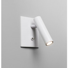 White Recessed Mounted Wall Light With Switched 3W LED