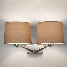 Polished Chrome Twin Wall Light (Shade Sold Seperately)